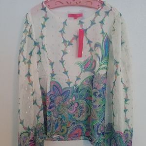 Lilly Pulitzer Sz Large Miriam Top